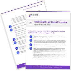 Rethinking Paper Check Processing